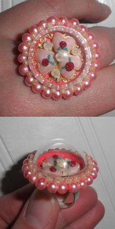 Miniature Valentine Cookies Globe Ring by Sheila A. Nielson