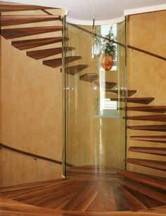 Staircase viewing cylinder