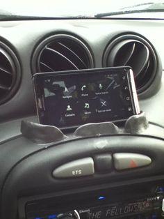 sugru car phone holder