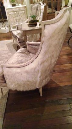 Currey and Company fur backed chairs photo Black Dog Design Blog J Rhodes Interior Design High Point Market HPMKT Elite Furniture Gallery www.elitefurnituregallery.com 843.449.3588