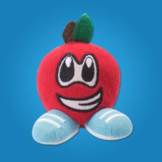 Ap'Zal Bottumz  $4.99  Hand made, 3 inch apple scented freshener/toy. Made for ages 4+. Appropriate for backpacks, cars, lockers, gym bags etc. Anywhere apple scented goodness is appreciated.  #cute #lilfruityz #apple