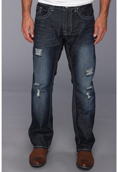 Navy Ripped Jeans by Request. Buy for $24 from 6pm.com