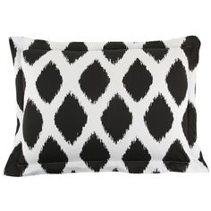 Si. Som. Dos Ikat Pillowcase - 50x75cm ($34) ❤ liked on Polyvore featuring home, bed & bath, bedding, bed sheets, black and white bedding, black & white bedding, ikat bedding, black and white pillow cases and black and white ikat bedding