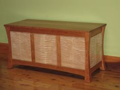 Cherry and Tiger Maple Blanket Chest by DouglasWoodDesigns on Etsy, $1400.00