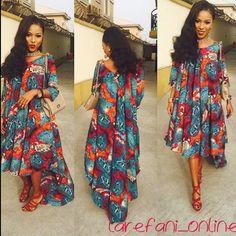Style Spotting: @sisitola in a beautiful print dress by @larefani_online #BellaNaijaStyle #BellaNaija #BNStyle