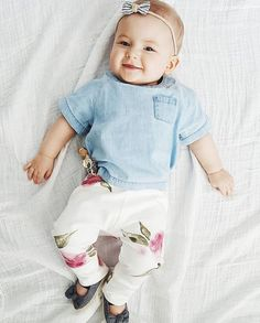 Baby Leggings  The Kate Pant Watercolor Floral in by finnandolive