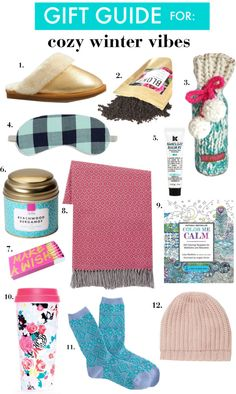 Christmas Gift Ideas for: Cozy Winter Vibes // who doesn't want candles, comfy socks, and a bit of pampering?
