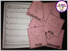 ABC order activity for Columbus Day. Part of the Columbus Day Hooray Unit.