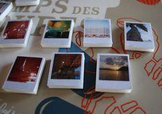Voici une idée à réaliser soi-même pour Noël. Offrez des mini magnets polaroids pour frigo...
