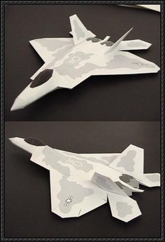 Lockheed Martin F-22 Raptor Fighter Free Aircraft Paper Model Download