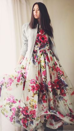 Long Flower Dress
