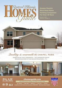 Doesn't this cover just make you want to curl up with hot cocoa and a good read? Perhaps this issue of the Homes Guide can be your good read! There are many wonderful homes just ready for you to move in to! #Central #IL #Peoria #realestate #homesforsale #cihg