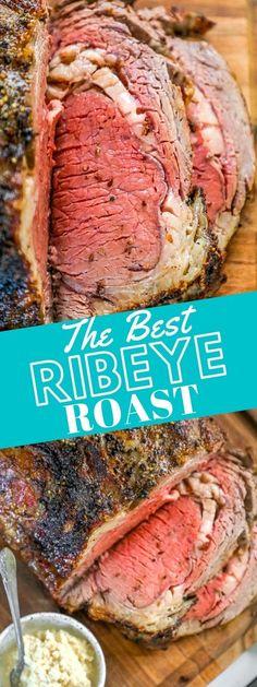 Beef Ribeye Roast, Prime Rib Roast, Beef Tenderloin, Roast Recipe Easy, Roast Beef Recipes, Rib Eye Recipes, Parmesan Roasted Cauliflower, Perfect Mashed Potatoes, Grilled Roast