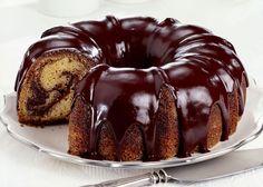 Chocolate glaze for Bundt cake or tube cake, a delicious and easy chocolate glaze recipe.