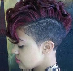 Cute Mohawk with shaved sides