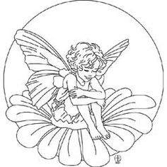 Pattern Detail | Fairy Child on Flower | Needlecrafter