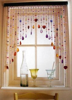 Perlenvorhang, vorhang aus Perlen, Fenster
