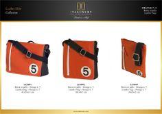 #Borse in #pelle - Orange n. 5 / #Leather #bags - Orange n. 5 by ITALUXURY | #Luxury Leather Goods & Accessories - Made in Italy. Website: www.italuxury.com