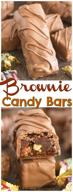 CANDY BAR BROWNIES November 2, 2017 (Edit) Super fudgy and chocolatey brownies loaded with leftover Halloween candy, and then dunked in chocolate! These Candy Bar Brownies are an easy and delicious way to use up your Halloween stash!