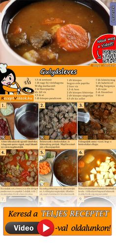 Gulyásleves No Salt Recipes, Other Recipes, My Recipes, Gluten Free Recipes, Cooking Recipes, Good Food, Yummy Food, Hungarian Recipes, Bon Appetit