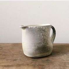 Wee creamer - woodfired porcelain with soda. Bring on a tea party!
