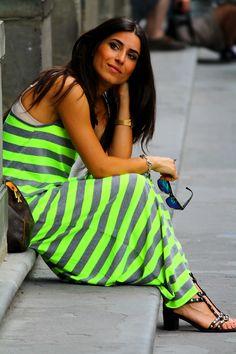 Una Giornata A Firenze Con Un Maxi Dress A Righe ( Dresses