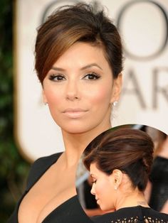 Eva Longoria Updo Hairstyle Golden Globe Awards 2011