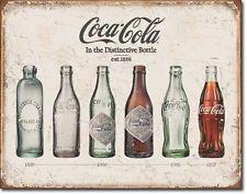 Coca Cola Bottle Evolution USA Soft Drink Nostalgie Coke Retro