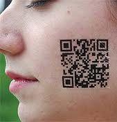 tattoed qr code