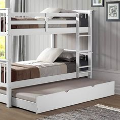 Solid Wood Twin Trundle Bed (Trundle Only)