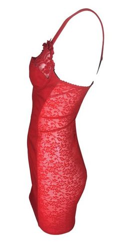 71c5f4fc855 C. 1987 Jean Paul Gaultier Junior Red Lace Sheer Panel Bra Mini Dress