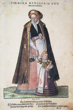 Hans Weigel - SCHLESIEN / SILESIA: Foemina Mediocris conditionis in Silesia. Ein Handtwercksfraw in der Schlesien 1577 http://www.pahor.de/data/product-list/53489.jpg
