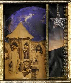 Mixed Media Collage:A Multitude of Angels by foundturtle on Etsy