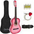 Best Choice Products Beginners Acoustic Electric Cutaway Guitar w/ Case, Extra Strings, Strap, Tuner, Pick - Blue: Musical Instruments