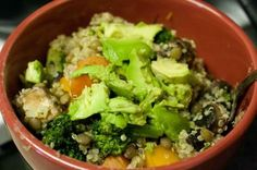 VEGETABLE, QUINOA, AND LENTILS WITH FRESH GINGER (VEGAN)