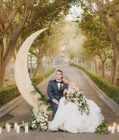 Backdrop para casamento em forma de meia lua