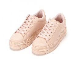 Teniși de dama roz din textură rugoasă it160318-46 | Fashionmix.ro