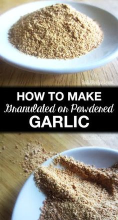 Does your garlic spoil before you use it all? Here are easy instructions for how to Easily Make Homemade Garlic Powder or Homemade Granulated Garlic and stop your garlic from going bad. Homemade Spices, Homemade Seasonings, Blender Food Processor, Food Processor Recipes, Dehydrated Food, Dehydrated Vegetables, Veggies, Seasoning Mixes, Garlic Powder