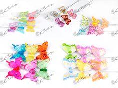 Farfalle decorative su stelo