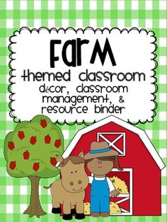 Farm Themed Classroom pack- labels, decor, posters, clip charts, teacher resource binder w/ data sheets, student forms, etc!