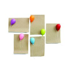 Celebrate life with these colorful magnets in your home or office.