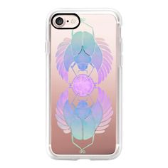Egyptian Scarab – Purple Ombré on Transparent - iPhone 7 Case, iPhone... (55 AUD) ❤ liked on Polyvore featuring accessories, tech accessories, iphone case, purple iphone case, iphone hard case, iphone cases, apple iphone case and transparent iphone case
