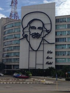 First stop on day 1 in Havana : Plaza de la Revolucion ... The sculpture? Camilo Cienfuegos #LATinCuba