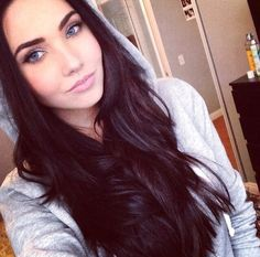 Pretty dark haired girl