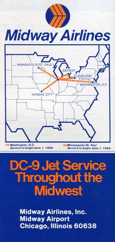 .Midway Airlines route map