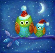 Ileana Oakley - Owls snowy xmas.jpg