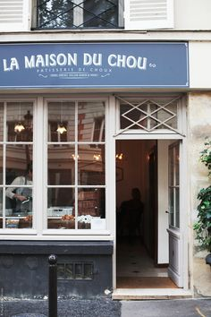 La Maison du Chou patisserie, Paris   tucked behind the abbey of Saint-Germain, offers up tender cream puffs, coffee and chocolate