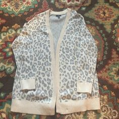 Heavy leopard sweater Heavy cream and gray leopard sweater. NWOT. GAP Sweaters Cardigans