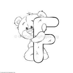 Most up-to-date Pic alphabet Coloring Sheets Thoughts It's not a magic formula that color publications pertaining to grown-ups are generally very popula Doodle Alphabet, Cute Alphabet, Alphabet Design, Animal Alphabet, Spanish Alphabet, Preschool Alphabet, Alphabet Crafts, Alphabet Letters, Bear Coloring Pages