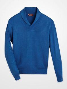 #BlairUnderwood #cobalt #blue #shawl #collar #sweater #fall #winter #fashion #menswear